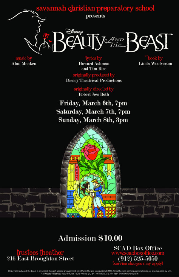 Beauty and the Beast musical Savannah Christian Preparatory School Savannah