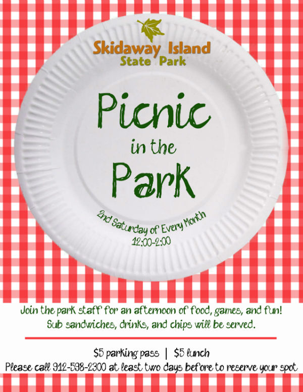 Picnic in the park at Skidaway Is. State Park Savannah