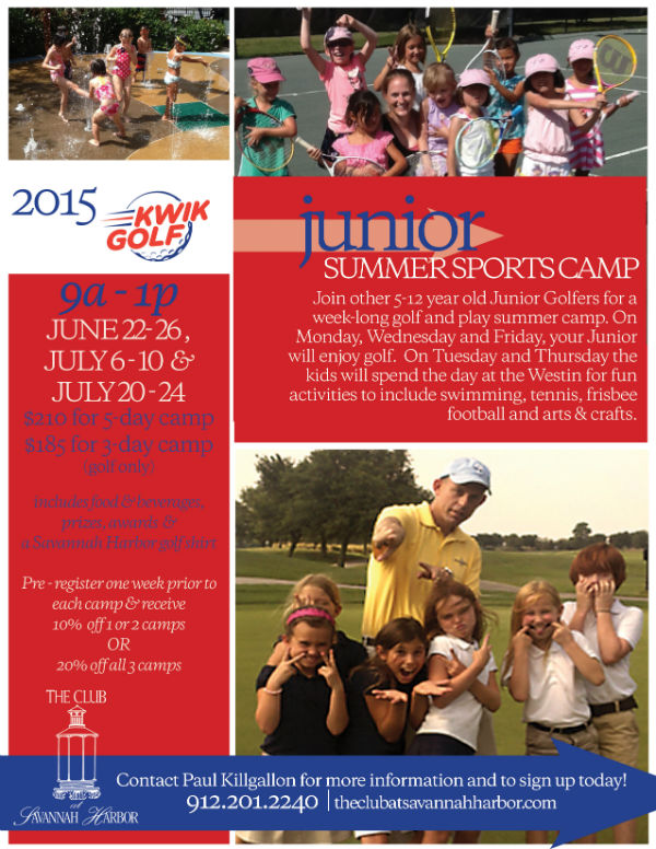 Golf Summer Camps Savannah