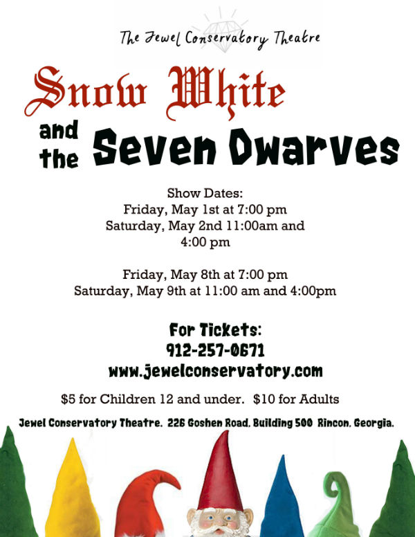 Snow White play at Jewel Conservatory Children's Theater Rincon Pooler