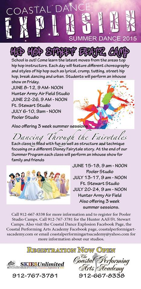 Dance Summer Camps at Coastal Performing Arts Academy Pooler Springfield