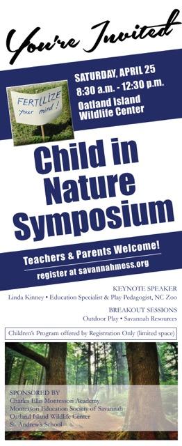 Child in Nature Symposium Savannah Oatland Island Wildlife Center
