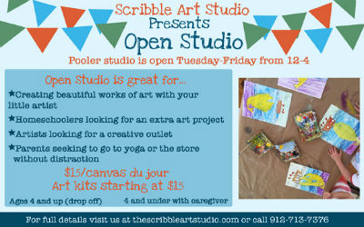 Scribble Art Studio Pooler Drop-Off Things to do with kids in Savannah