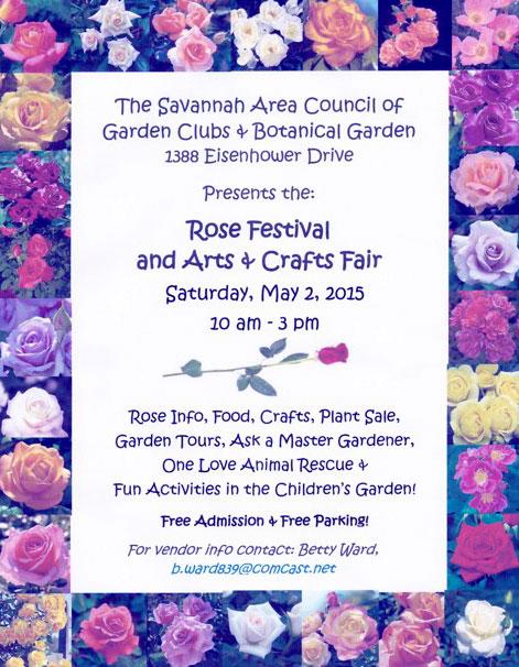 Free Rose Festival Savannah 2015
