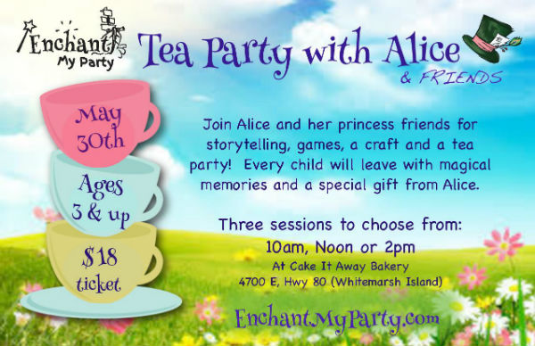 Tea Party with Alice Savannah Enchant My Party