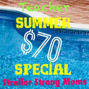 summer teacher special Stroller Strong Moms Savannah