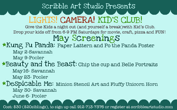 Scribble Art Studio Savannah Pooler Kids Club Parents Night Out