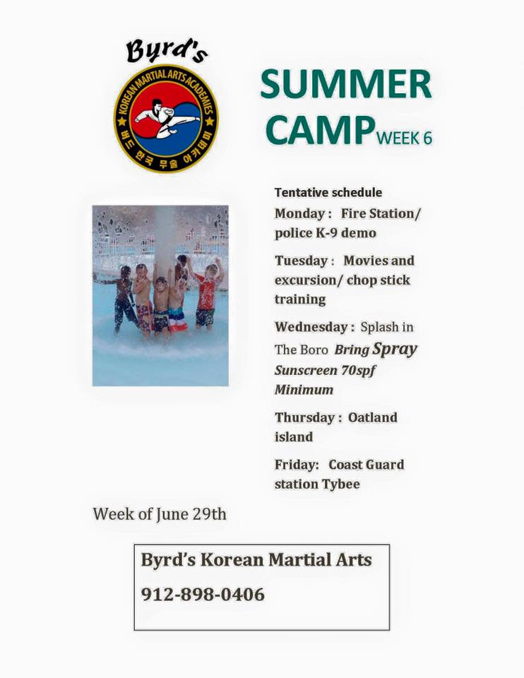 Byrd's Adventure Summer Camp Wilmington Island Whitemarsh Island savannah