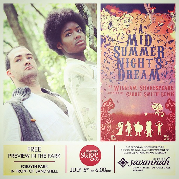 free preview in the park A Midsummer Night's Dream Savannah