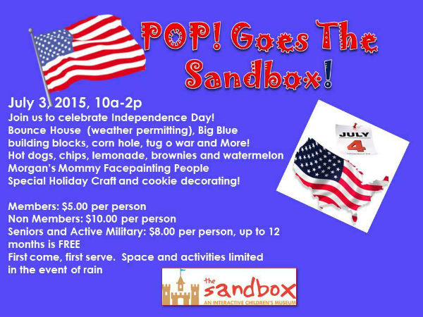 The Sandbox Children's Museum 2015 Fourth of July events Hilton Head