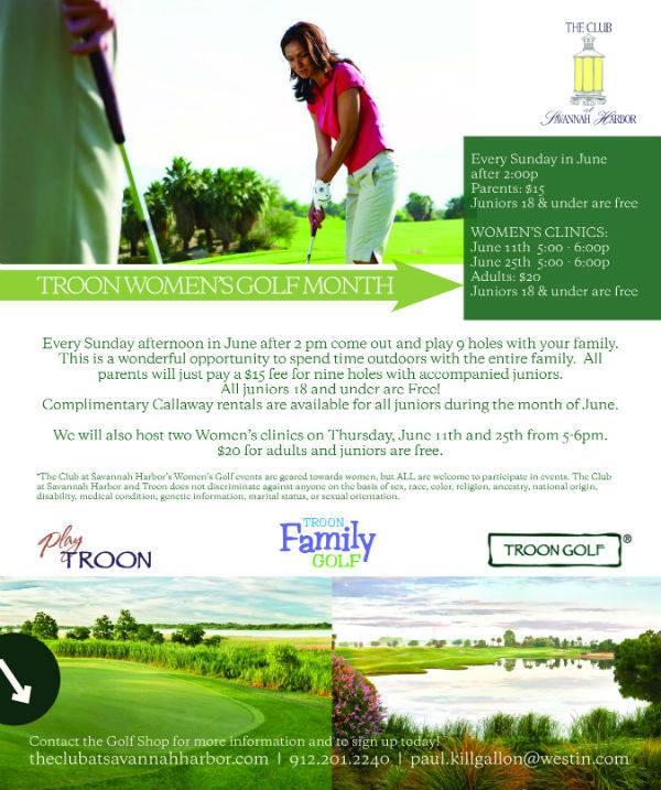 Free golf for kids at The Club at Savannah Harbor during June 2015