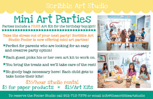 Mini Art Parties Pooler Scribble Art Studio