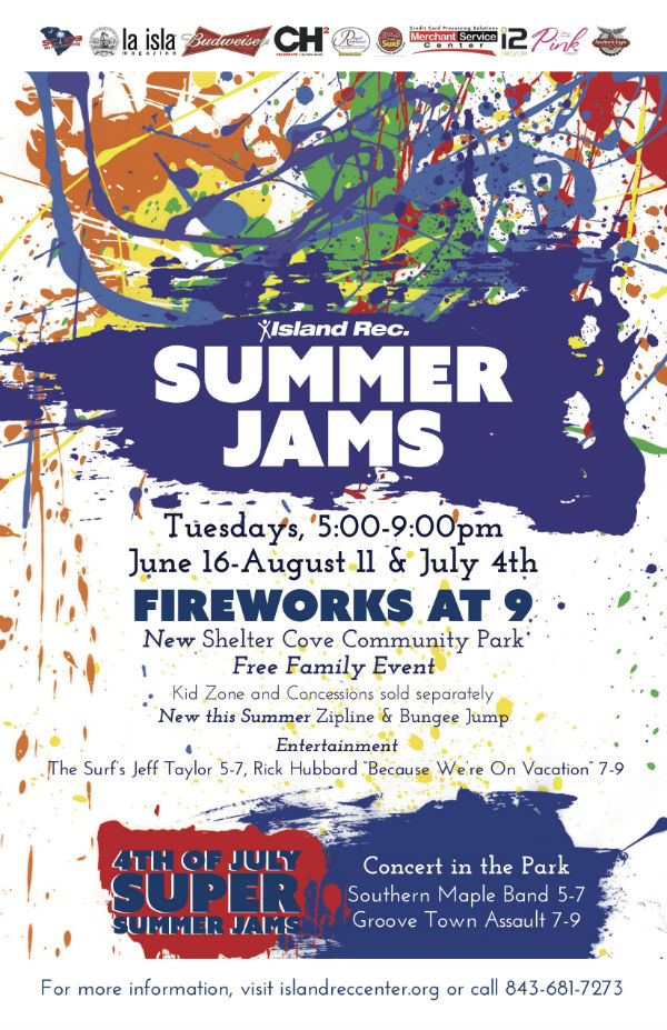 Summer Jam free family concerts