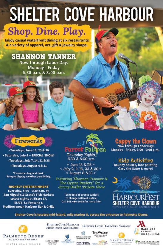 Palmetto Dunes Shelter Cove Free family events 2015 Hilton Head