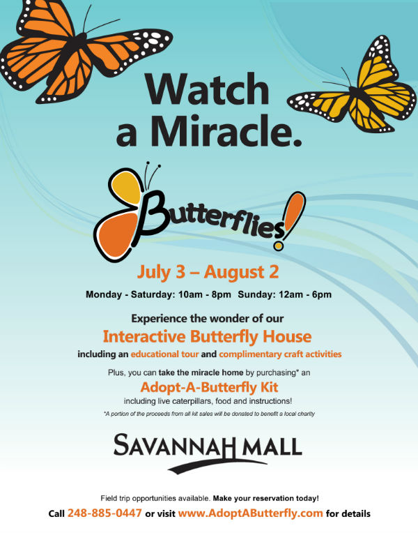 Butterflies Savannah Mall 2015