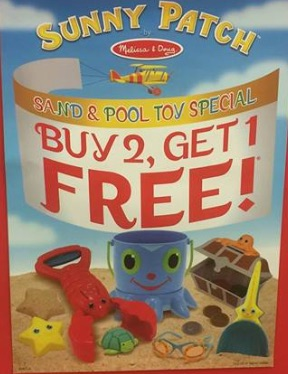 "Buy 2 Get 1 Free"" special on the Melissa and Doug Sunny Patch Barnett Educational Supplies Savannah"