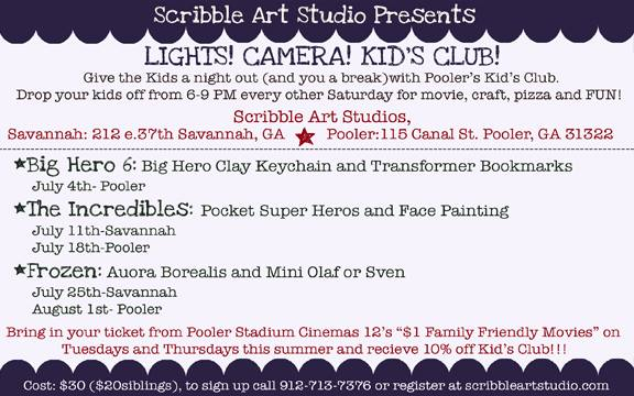 Kids Night out, Parents Night Out Scribble Art Studio