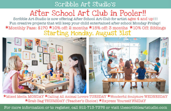 After-School Art Club at Pooler Scribble Art Studio