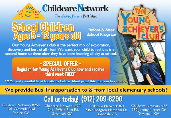 After-school childcare Savannah