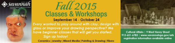 Fall children's art classes, workshops in Savannah