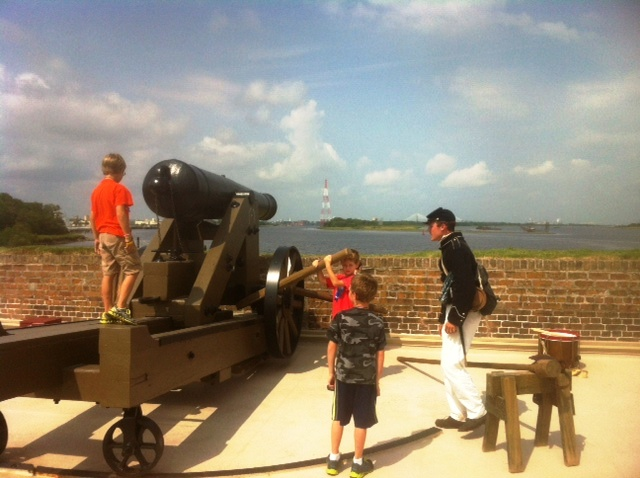 Old Fort Jackson Labor Day 2015 weekend family events Savannah