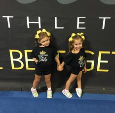 cheerleading for toddlers preschoolers in Savannah Crowned Elite Athletics