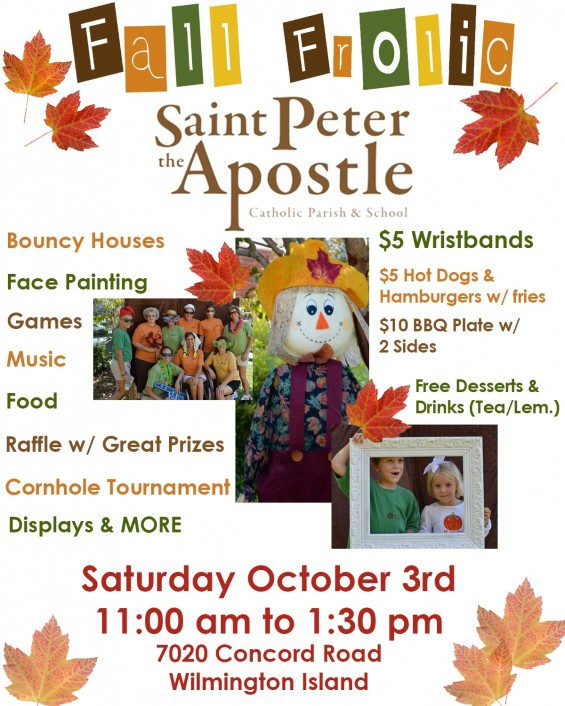 Fall Frolic festival Saint Peter the Apostle Wilmington Island Savannah
