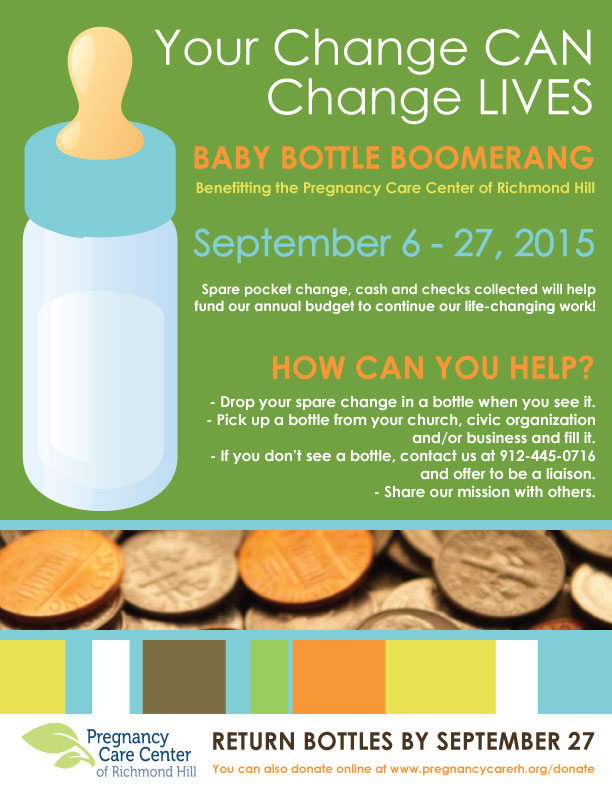 Baby Bottle Boomerang Fundraiser RIchmond Hill