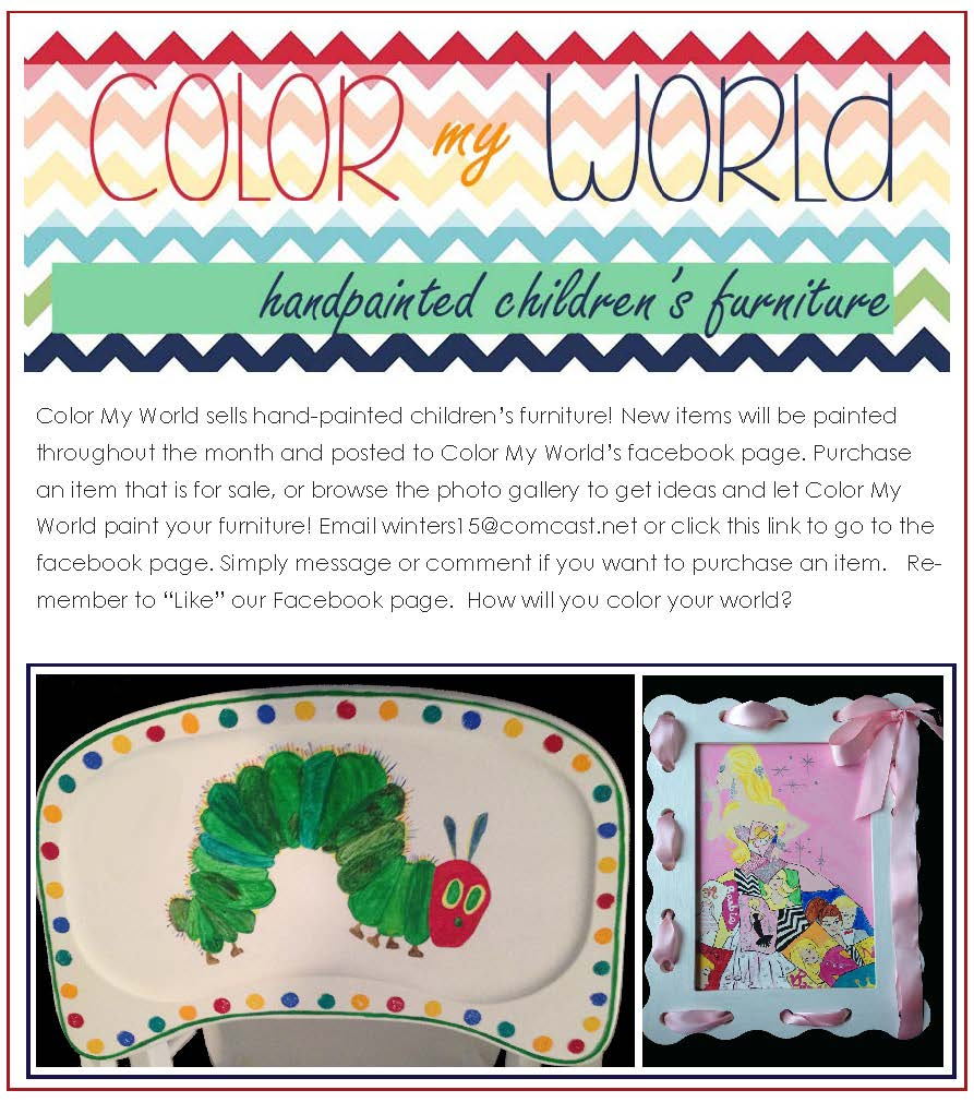 handpainted children's furniture Savannah Color My World