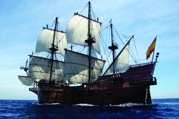 El Galeon Spanish tall ship visits Savannah 2015