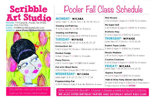 Pooler children's art classes Savannah