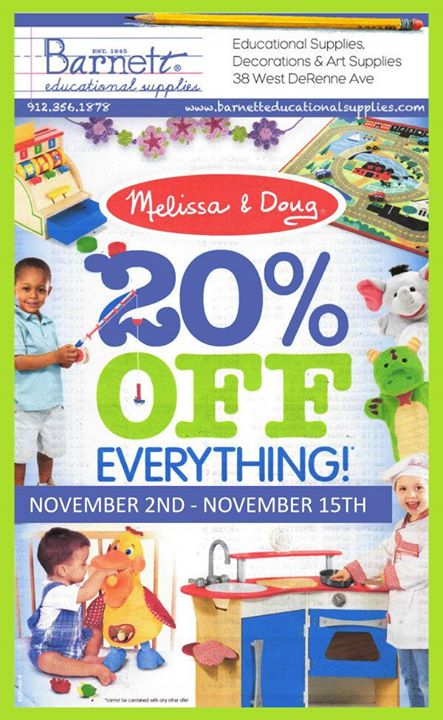 Melissa & Doug Sale @ Barnett Educational Supplies Savannah