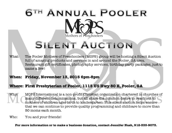 Pooler MOPS Silent Auction 2015
