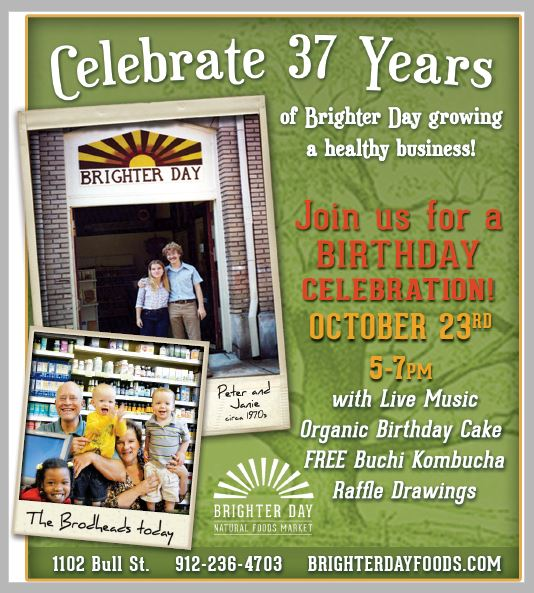 Brighter Day Natural Foods Market Savannah Birthday Celebration Free Buchi Kombucha