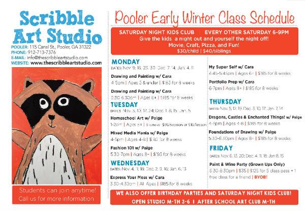 Savannah children's art classes Pooler Scribble Art Studio