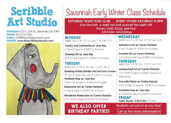 Children's art classes Savannah