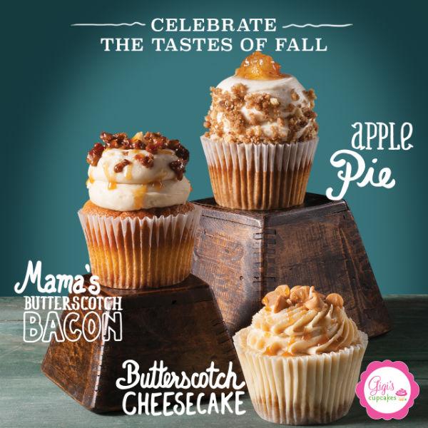 new fall menu Gigi's Cupcakes Savannah