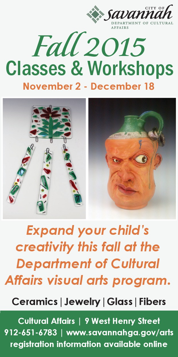 Savannah art parent & child clay workshops classes