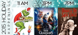Free holiday movies Savannah 2015 SCAD Trustees Theater