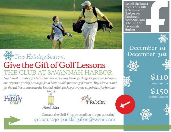 Holiday Golf Lessons Club Savannah Harbor 2015