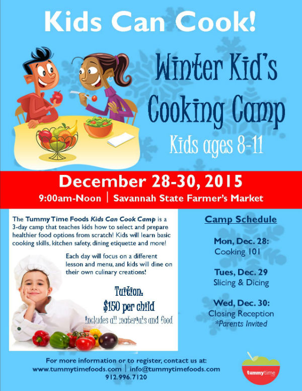 Winter Holiday Kids Cooking Camp Savannah