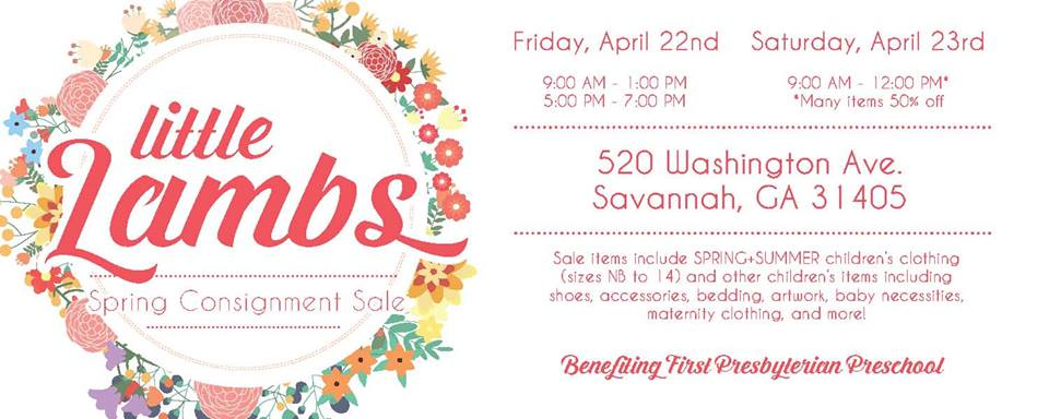 Little Lambs Spring 2016 Consignment Sale Savannah