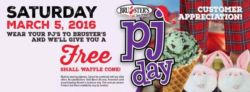 Free ice cream on PJ Day 2016 Savannah