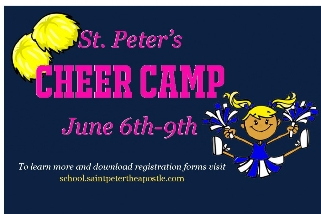 St. Peter the Apostle Summer Cheer Camp 2016 Savannah Wilmington Island