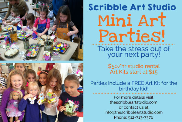 Mini Art Parties Children Birthday parties Savannah