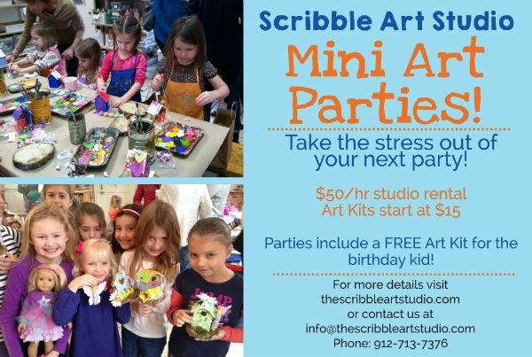 Mini Art Parties Children Birthday parties Savannah