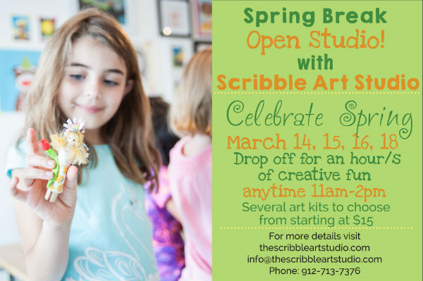 Spring Break Camps Savannah Scribble Art Studio