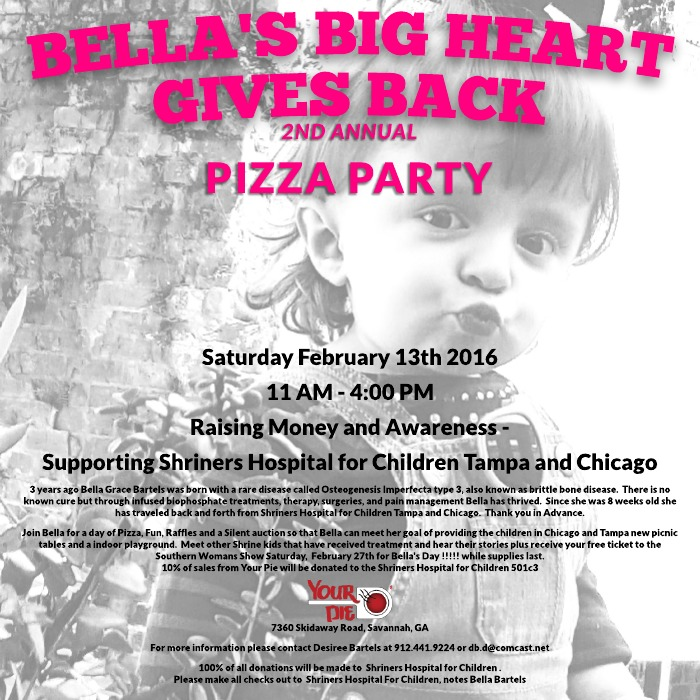 Bella's Big Heart Gives Back Savannah My Pie Sandfly 2016