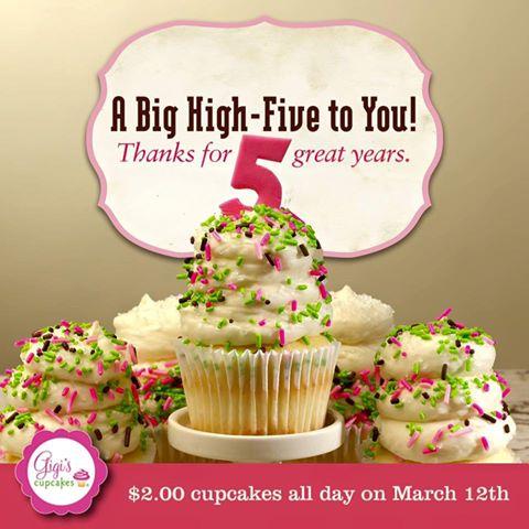 $2 cupcakes @ Gigi's Cupcakes Savannah