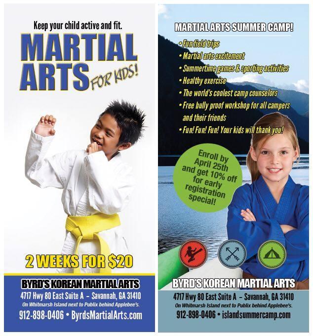 Martial Arts Camps Savannah Summer 2016